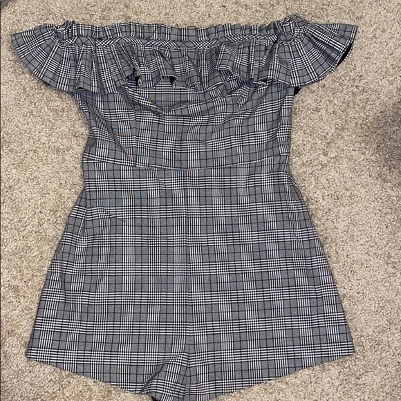 Urban Outfitters Pants - NWT urban outfitters plaid romper